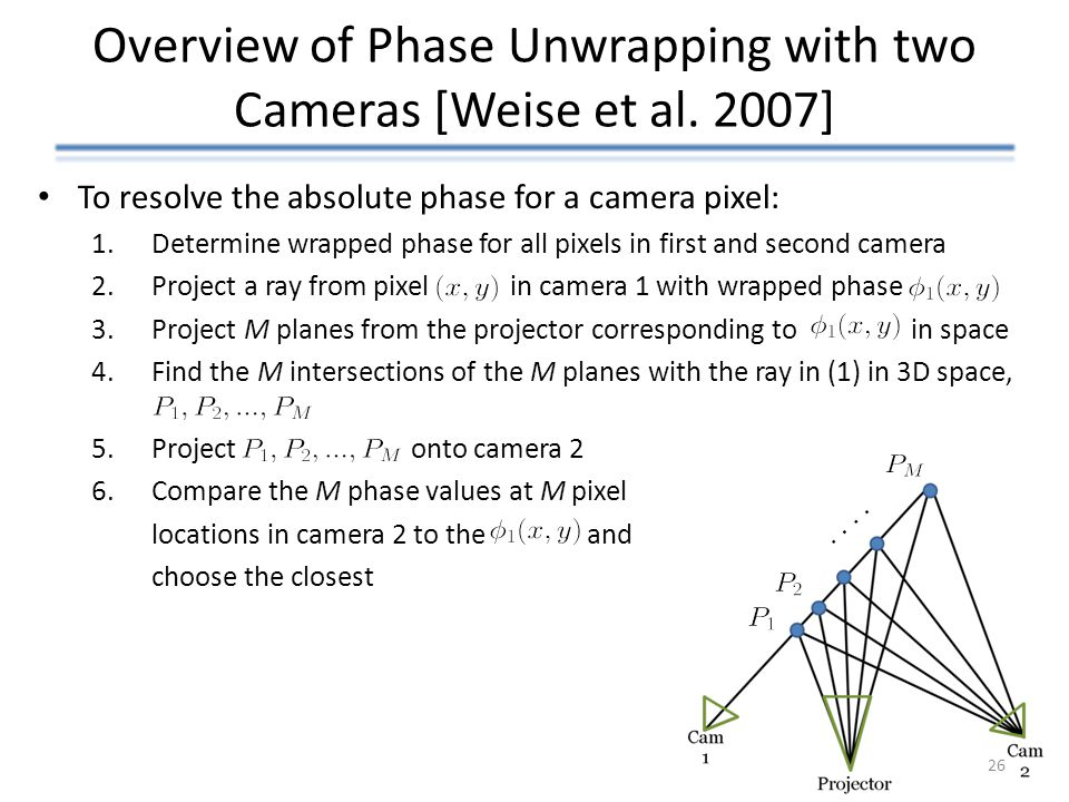 Overview of Phase Unwrapping with two Cameras [Weise et al. 2007]